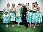 Kona Wedding Bridal Party with Groom