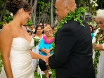 Kona Wedding Holding Hands