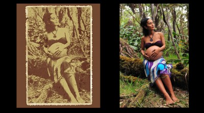 Old Fashioned Hawaii Maternity Portrait