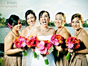 Kona Wedding, Fairmont Orchid Bridesmaids