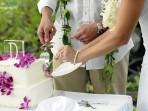 Royal Kona Wedding, Cake Cutting
