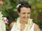 Royal Kona Wedding, Smiling Bride