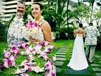 Royal Kona Wedding, Bride With Dad