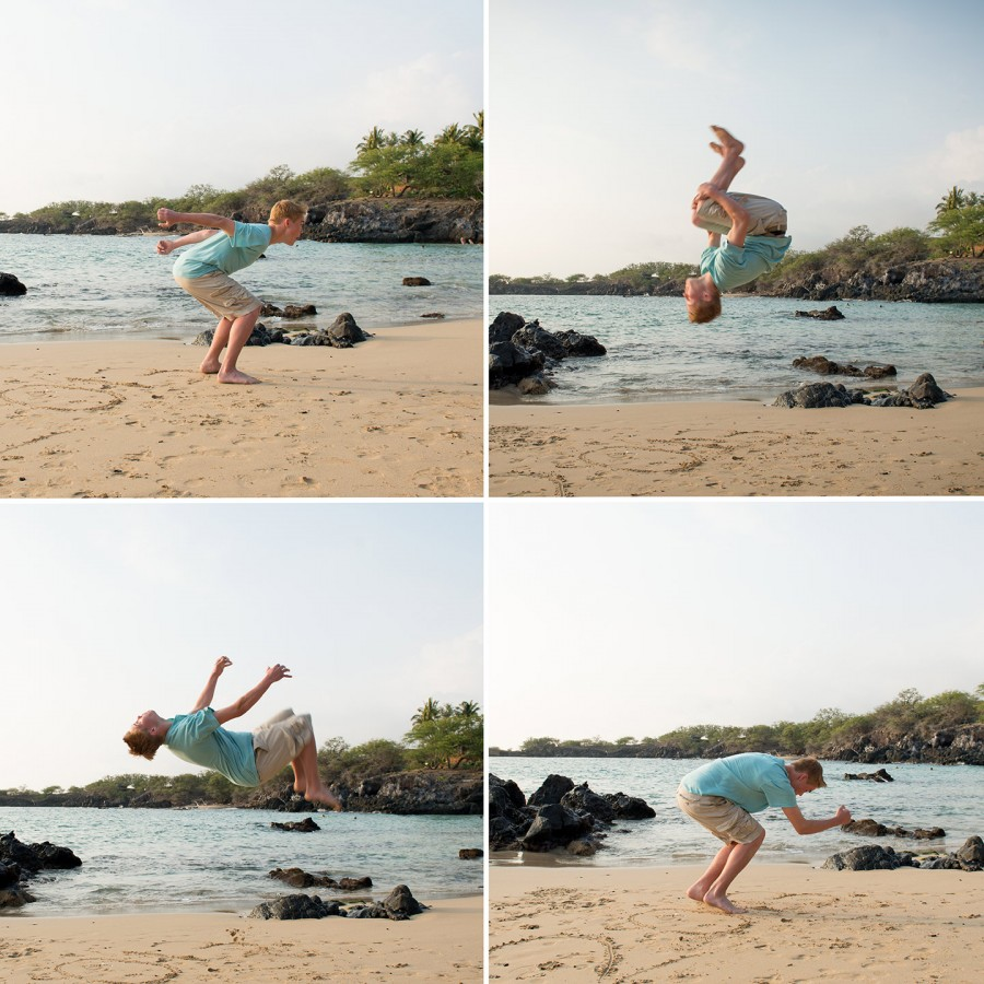 Kona Family Photographer, Back Flip