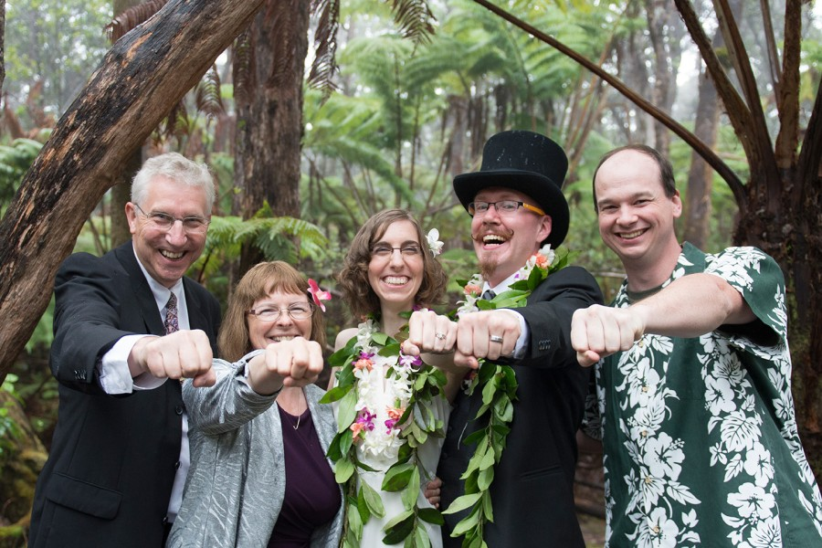 Big Island Wedding in Volcano, Family and Friends